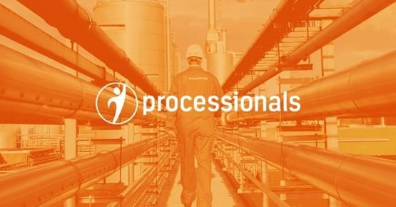 Logo van processionals op een oranje achtergrond, business case - OTYS Recruiting Technology