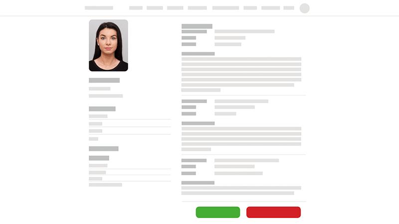Online CV voorstellen